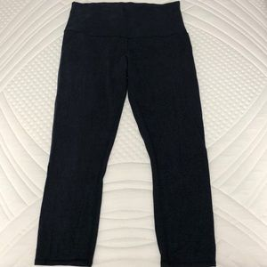 Heathered navy cotton lululemon leggings